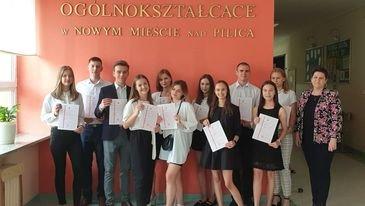 Zakończenie roku szkolnego 2020/2021 w Liceum Ogólnokształcacym w Nowym Mieście nad Pilicą